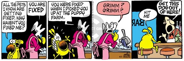 Comic Strip Mike Peters  Mother Goose and Grimm 2005-04-02 health