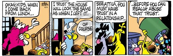 Comic Strip Mike Peters  Mother Goose and Grimm 2005-04-04 messy
