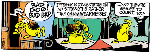 Comic Strip Mike Peters  Mother Goose and Grimm 2003-04-05 concentration