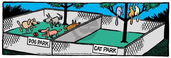 Cartoonist Mike Peters  Mother Goose and Grimm 2003-04-08 dog park