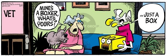Comic Strip Mike Peters  Mother Goose and Grimm 2005-04-09 vet