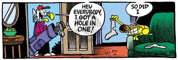 Cartoonist Mike Peters  Mother Goose and Grimm 2004-04-13 hole in one