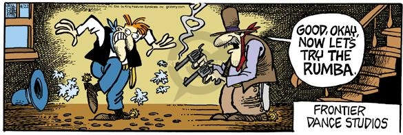 Comic Strip Mike Peters  Mother Goose and Grimm 2005-04-22 gun