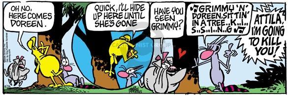 Cartoonist Mike Peters  Mother Goose and Grimm 2004-04-26 seek