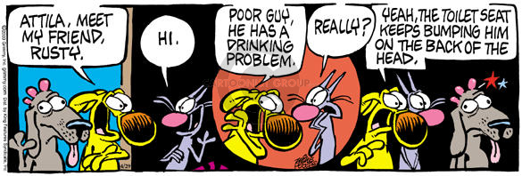 Comic Strip Mike Peters  Mother Goose and Grimm 2003-04-29 hydration