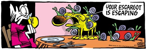Comic Strip Mike Peters  Mother Goose and Grimm 2004-05-03 appetizer