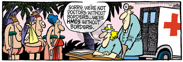 Comic Strip Mike Peters  Mother Goose and Grimm 2003-05-09 health
