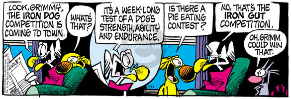 Comic Strip Mike Peters  Mother Goose and Grimm 2003-05-12 food eating contest