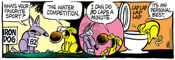 Comic Strip Mike Peters  Mother Goose and Grimm 2003-05-16 drinking water