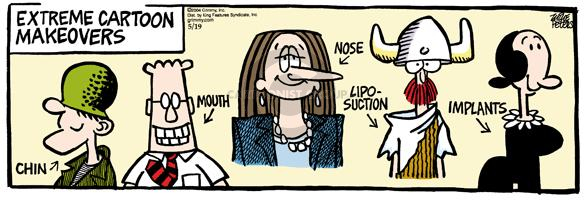 Comic Strip Mike Peters  Mother Goose and Grimm 2004-05-19 makeover