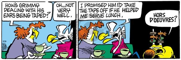 Comic Strip Mike Peters  Mother Goose and Grimm 2005-05-28 promise
