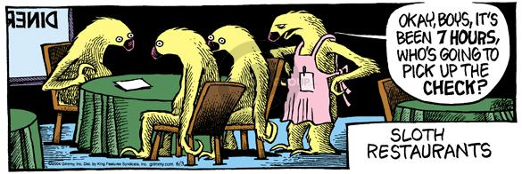 Comic Strip Mike Peters  Mother Goose and Grimm 2004-06-03 sloth