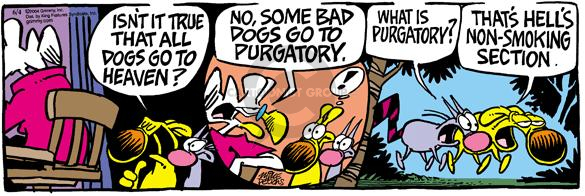 Cartoonist Mike Peters  Mother Goose and Grimm 2004-06-04 cigarette