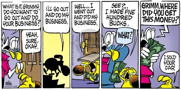 Comic Strip Mike Peters  Mother Goose and Grimm 2005-06-12 urine