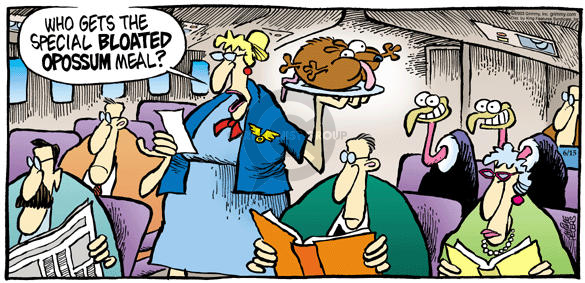 Cartoonist Mike Peters  Mother Goose and Grimm 2003-06-15 airline travel