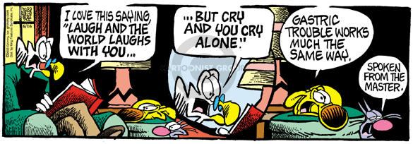 Comic Strip Mike Peters  Mother Goose and Grimm 2003-06-16 cry