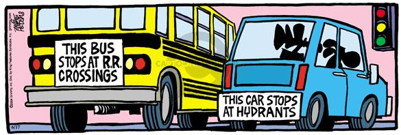 Comic Strip Mike Peters  Mother Goose and Grimm 2004-06-17 bus