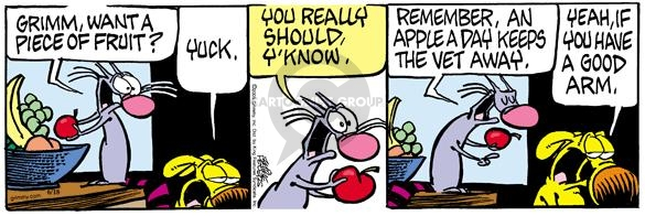 Comic Strip Mike Peters  Mother Goose and Grimm 2005-06-18 vet