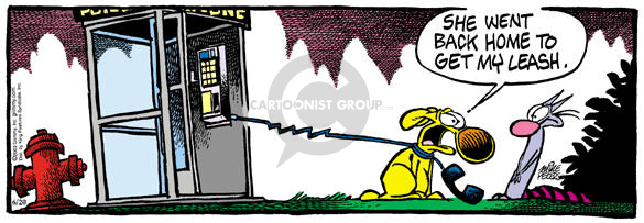 Comic Strip Mike Peters  Mother Goose and Grimm 2003-06-20 leash