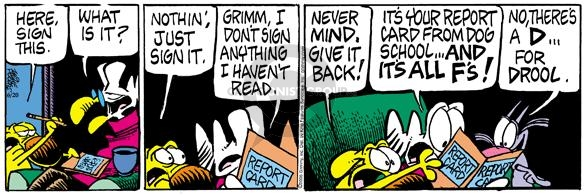 Comic Strip Mike Peters  Mother Goose and Grimm 2005-06-20 fail