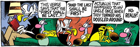 Comic Strip Mike Peters  Mother Goose and Grimm 2004-06-26 turn around