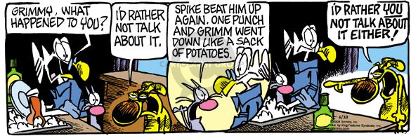 Cartoonist Mike Peters  Mother Goose and Grimm 2004-06-30 Attila