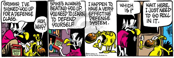 Comic Strip Mike Peters  Mother Goose and Grimm 2004-07-01 defense