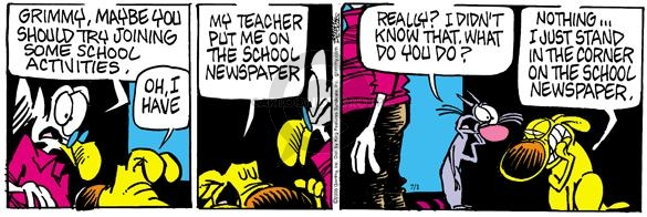 Comic Strip Mike Peters  Mother Goose and Grimm 2005-07-01 teacher