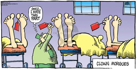 Comic Strip Mike Peters  Mother Goose and Grimm 2004-07-11 toe