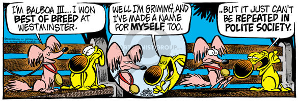 Cartoonist Mike Peters  Mother Goose and Grimm 2003-07-12 honor