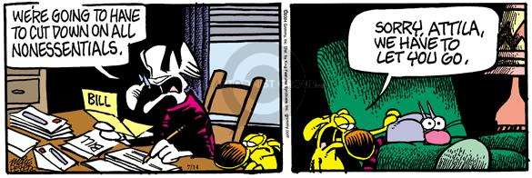 Comic Strip Mike Peters  Mother Goose and Grimm 2004-07-14 cat dog