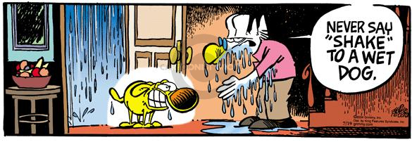 Comic Strip Mike Peters  Mother Goose and Grimm 2004-07-19 drip drop
