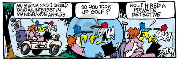 Comic Strip Mike Peters  Mother Goose and Grimm 2004-07-21 marriage counseling