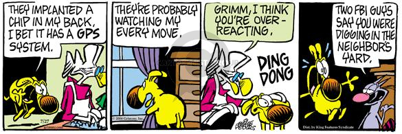Comic Strip Mike Peters  Mother Goose and Grimm 2004-07-27 dong