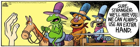 Cartoonist Mike Peters  Mother Goose and Grimm 2005-07-29 hire