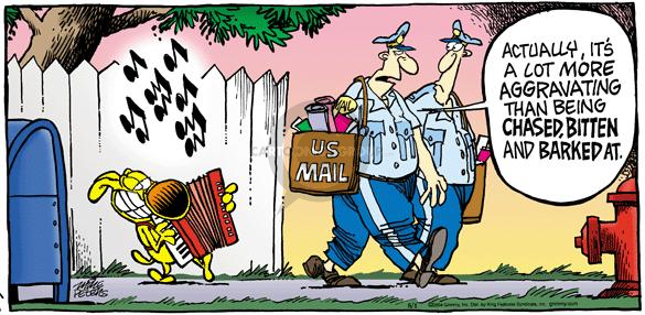 Cartoonist Mike Peters  Mother Goose and Grimm 2004-08-01 mailman