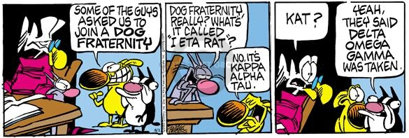 Comic Strip Mike Peters  Mother Goose and Grimm 2005-08-01 cat name