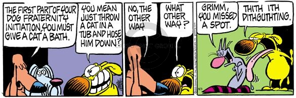 Comic Strip Mike Peters  Mother Goose and Grimm 2005-08-03 cat dog