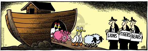 Comic Strip Mike Peters  Mother Goose and Grimm 2004-08-04 traveler