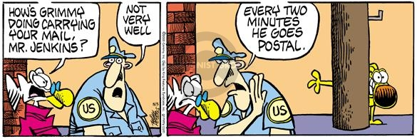 Cartoonist Mike Peters  Mother Goose and Grimm 2005-08-05 anxious