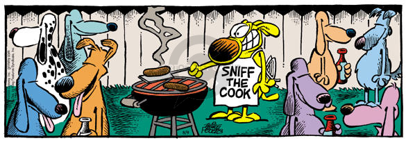 Cartoonist Mike Peters  Mother Goose and Grimm 2003-08-09 cooking