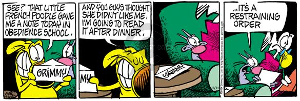 Comic Strip Mike Peters  Mother Goose and Grimm 2004-08-11 give notice