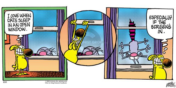 Comic Strip Mike Peters  Mother Goose and Grimm 2004-08-15 cat nap