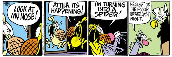 Cartoonist Mike Peters  Mother Goose and Grimm 2004-08-17 Attila