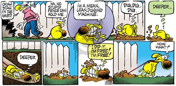 Comic Strip Mike Peters  Mother Goose and Grimm 2005-08-28 dog fence