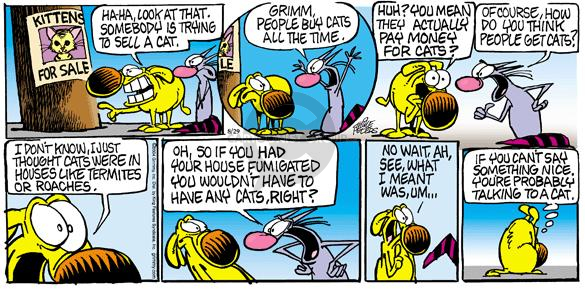 Comic Strip Mike Peters  Mother Goose and Grimm 2004-08-29 cat adoption