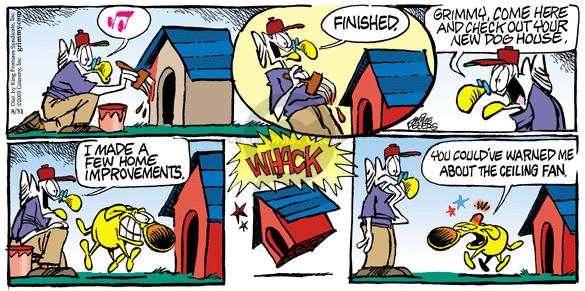 Comic Strip Mike Peters  Mother Goose and Grimm 2003-08-31 thump