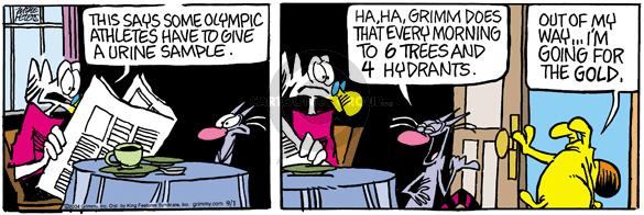 Comic Strip Mike Peters  Mother Goose and Grimm 2004-09-01 urine