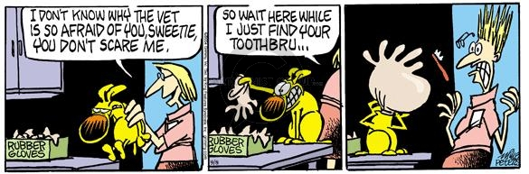 Comic Strip Mike Peters  Mother Goose and Grimm 2004-09-08 dental cleaning