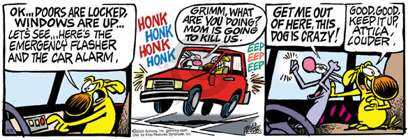 Comic Strip Mike Peters  Mother Goose and Grimm 2003-09-09 loud noise